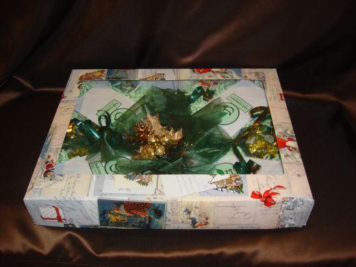 Зимний набор - подарочный набор с чаем и конфетами № 42