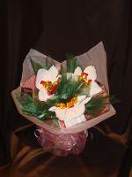 """Букет """"Орхидеи"""" большой с чаем, кофе и конфетами - подарочный набор № 39"""
