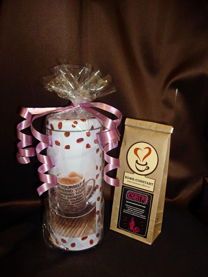 Подарочная банка с кофе  - подарочный набор с кофе №11