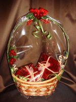 Корзина с подарками - подарочный набор с кофе № 19